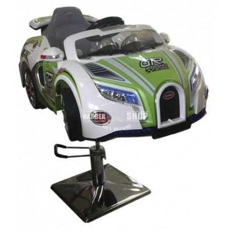 Детское парикмахерское кресло машинка Bugatti зёленая